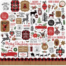 A Lumberjack Christmas Cardstock Stickers 12X12-Elements