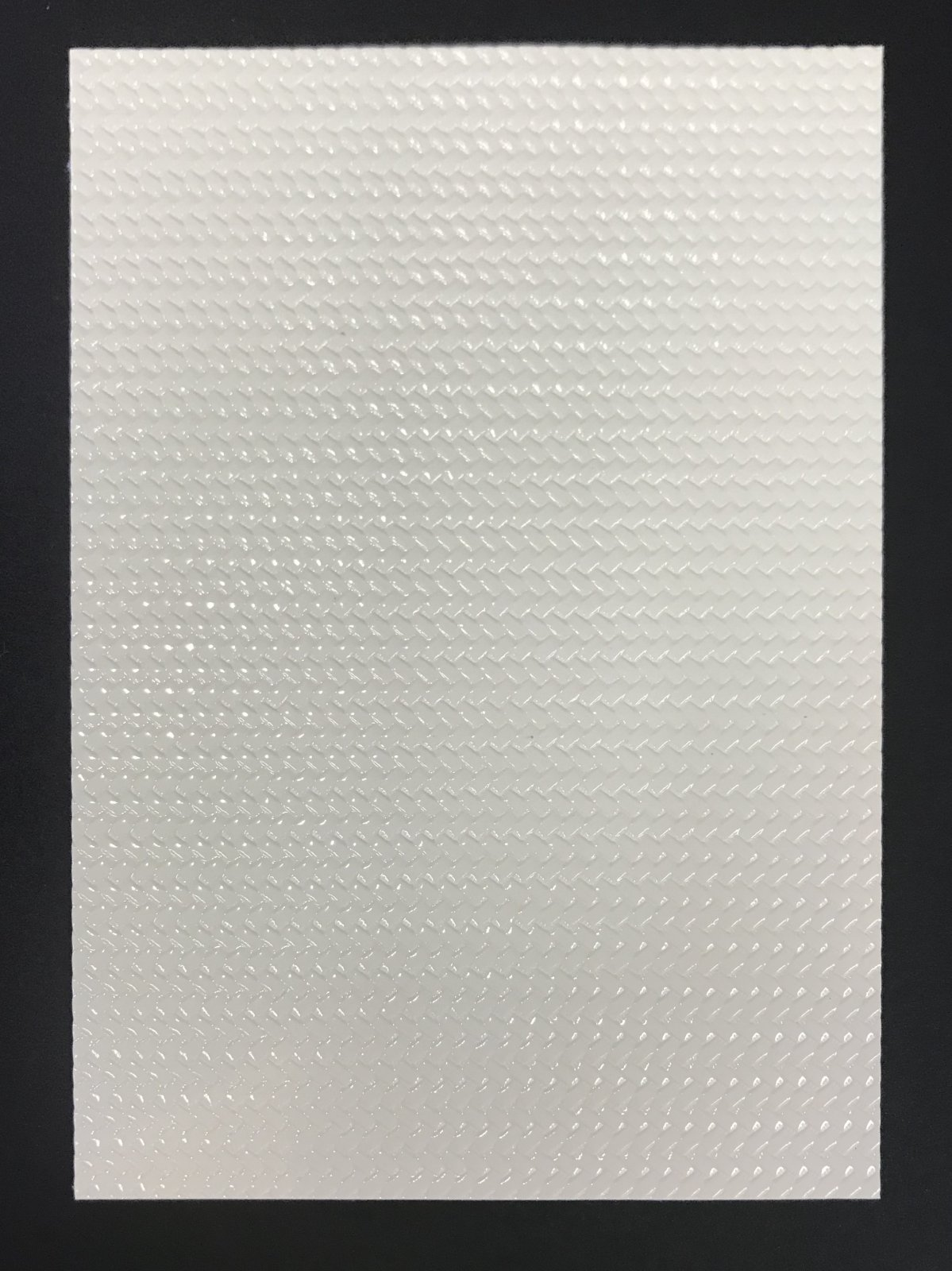 FAUX LEATHER - BASKETWEAVE WHITE