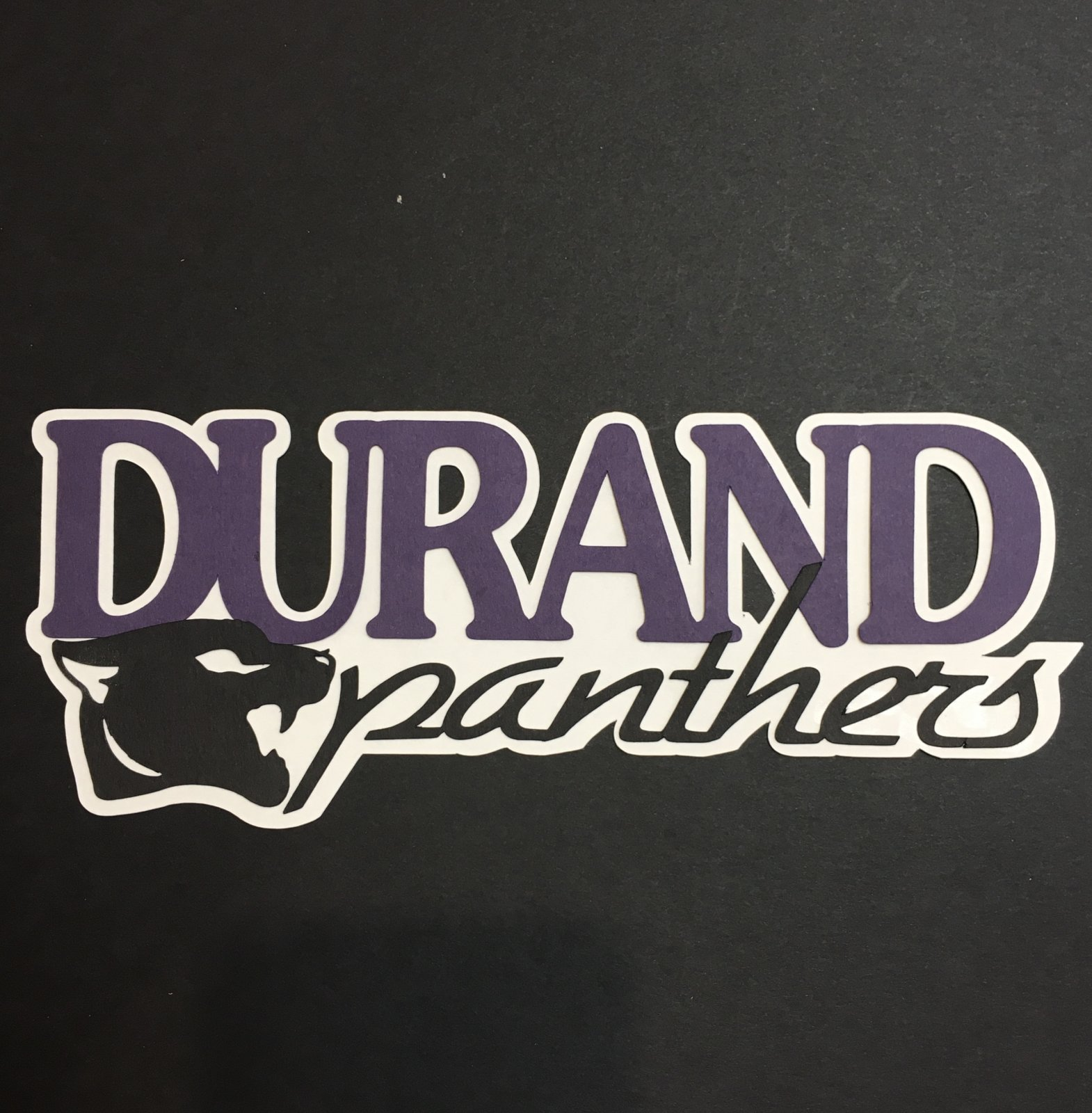 DURAND PANTHERS TITLE die cut