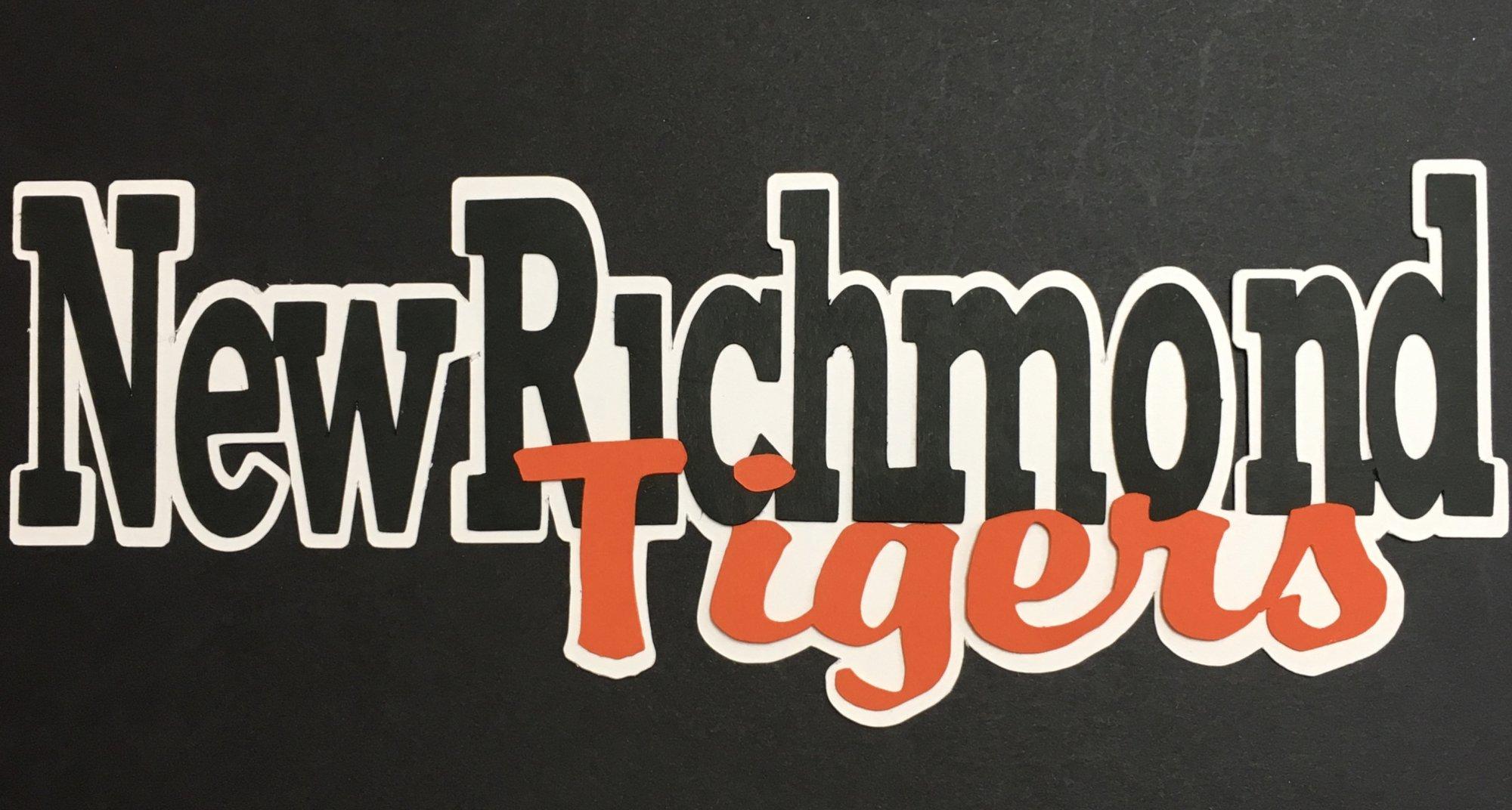 NEW RICHMOND TIGERS die cut