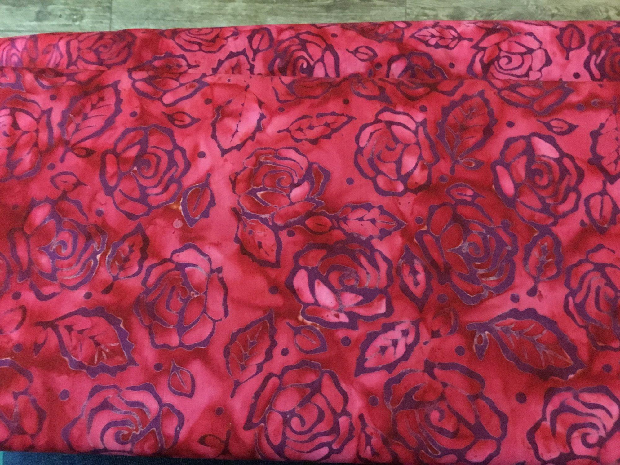 Roses and Thorns Batik Red