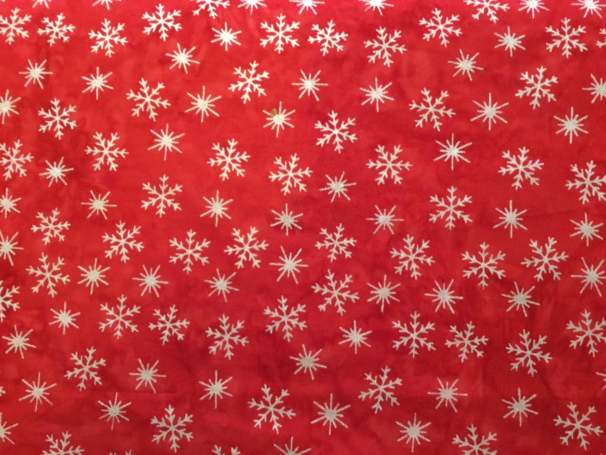 Snowflake Batik Red