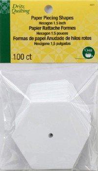 Dritz Paper piecing hexagon 1.5 inch 100 count