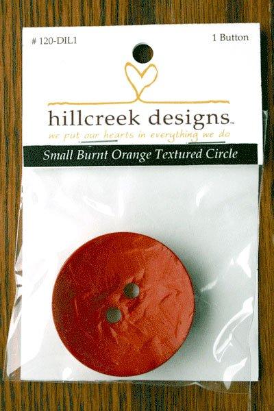 (HCD-120DIL1)  Large Textured Button - Burnt Orange