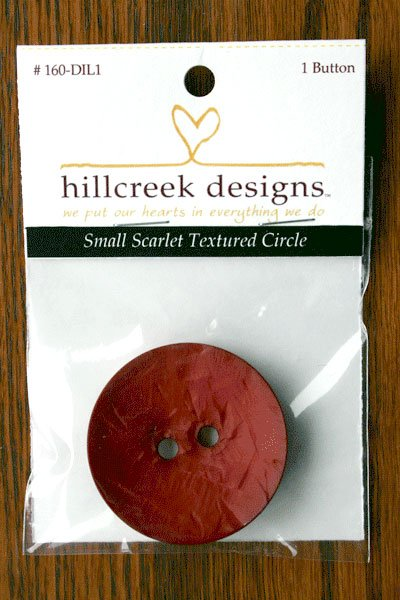 (HCD-160DIL1)  Large Textured Button - Scarlet