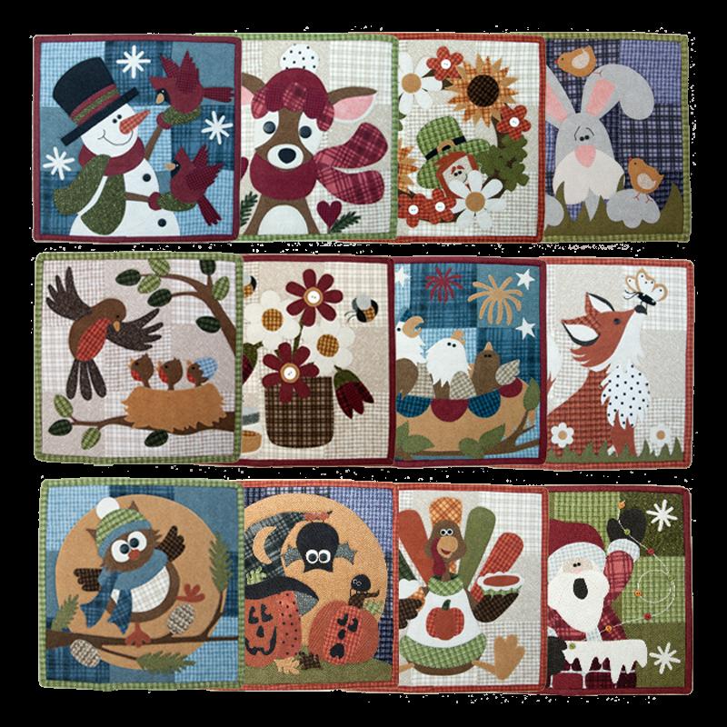 Monthly Calendar Quilt Patterns : All little quilts calendar series