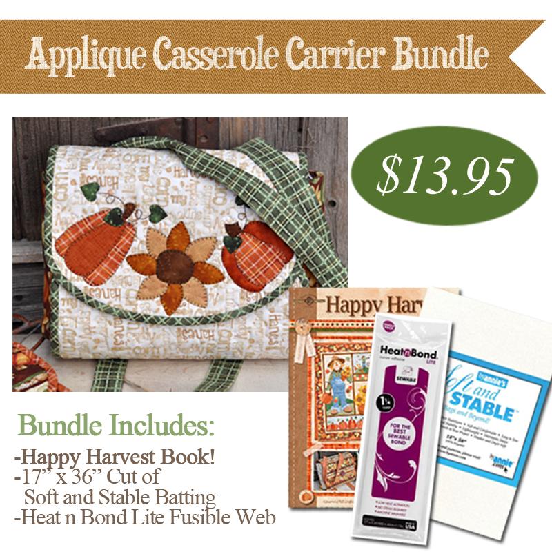 (BUNDLE-AppliqueCass)   Applique Casserole Carrier Bundle