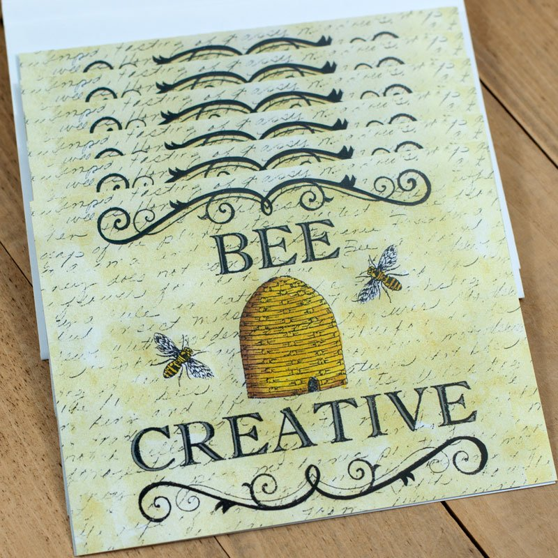 (DS-SN112)   Bee Creative Notecards