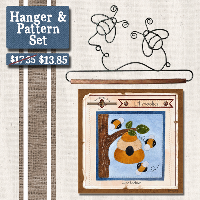 (BUNDLE-Bee)   Bee Hanger and Pattern Set