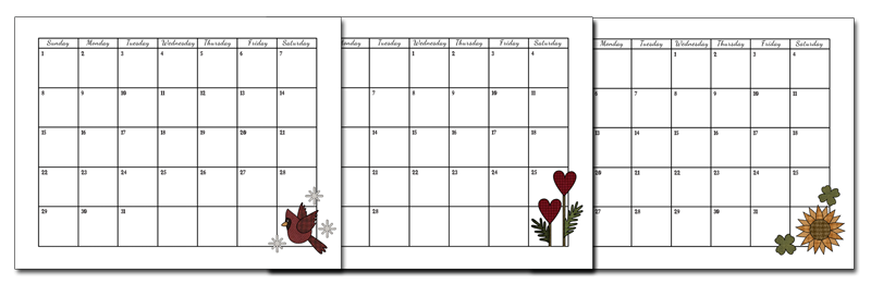 calender pages