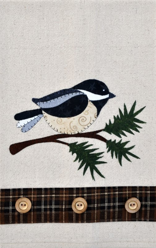 (TWBP22)   Chickadee and Evergreen Patternlet