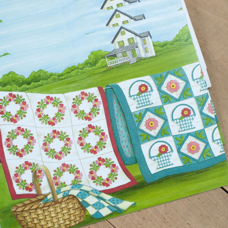 (DS-SN114 )   Clothesline Quilts Notecards