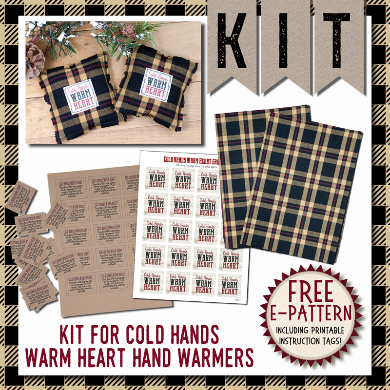 (KIT-Handwarmers)   KIT for Simply Saying Cold Hands Warm Heart Hand Warmer
