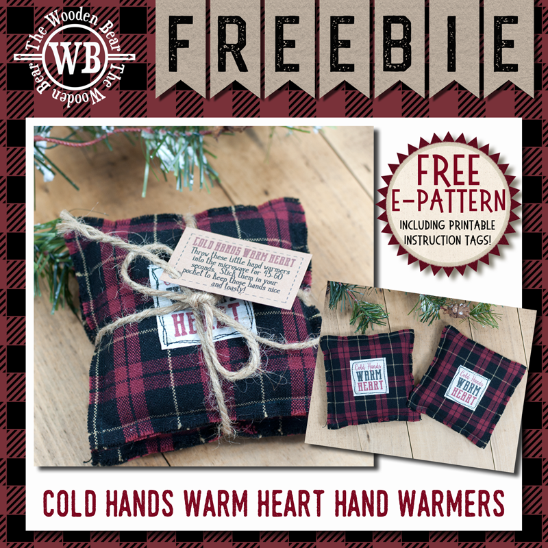 FREEBIE Simply Saying Cold Hands Warm Heart Hand Warmer E-pattern