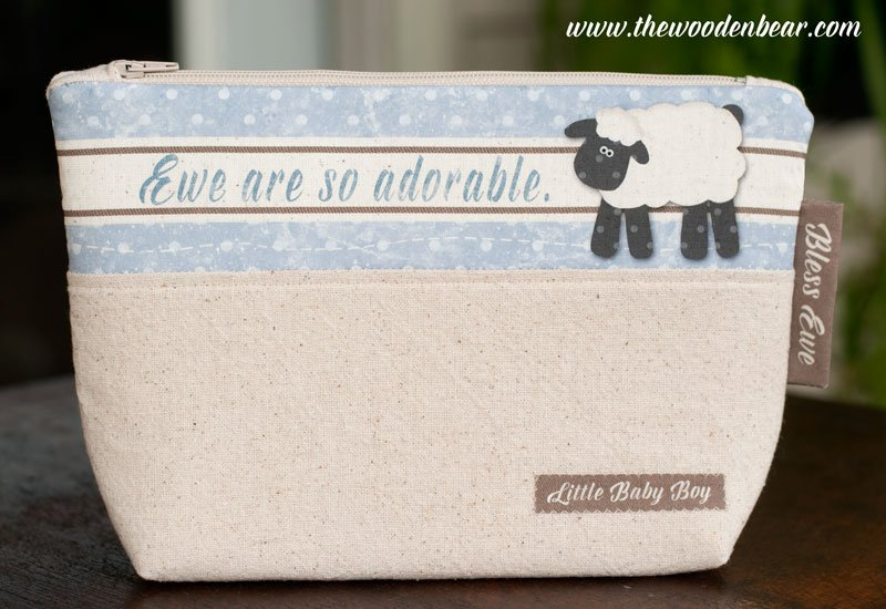 (TWBC11)  Stand-Up Pouch Ewe Are So Adorable Blue