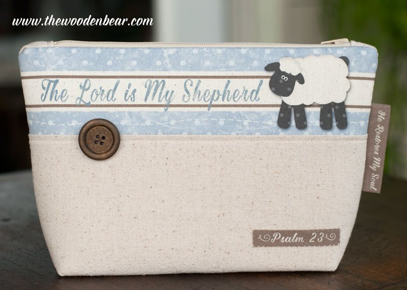 (TWBC07)  Stand-Up Pouch The Lord Is My Shepherd Blue