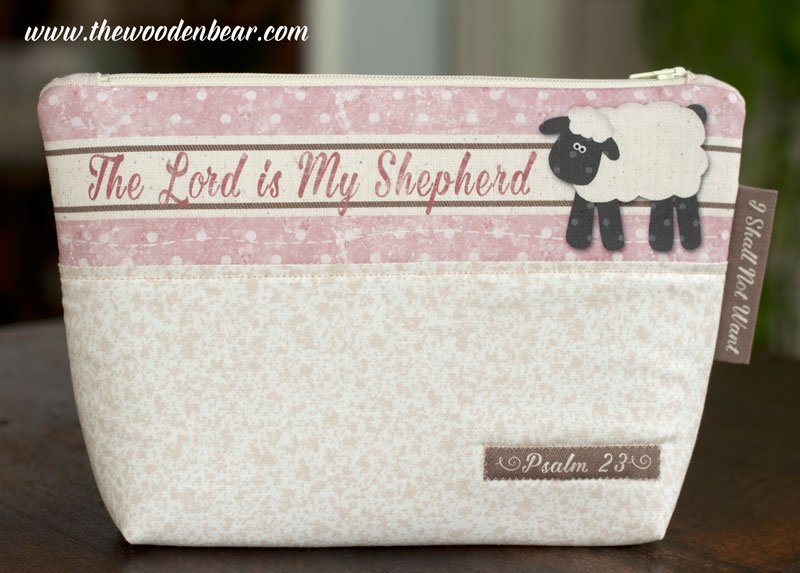 (TWBC06)  Stand-Up Pouch The Lord Is My Shepherd Pink
