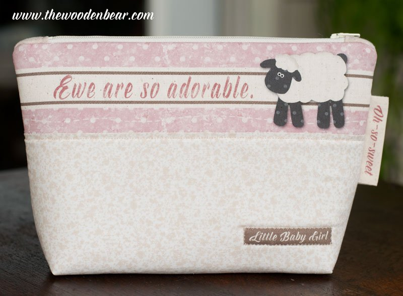 (TWBC10)  Stand-Up Pouch Ewe Are So Adorable Pink