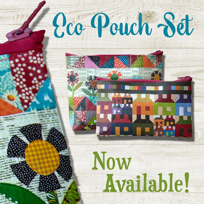 Eco Pouch Set of 2- Scrap Quilt Secrets