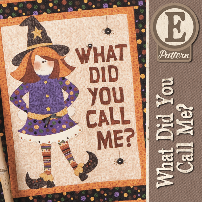 (TWB-EWitch)   E-pattern What Did You Call Me Witch