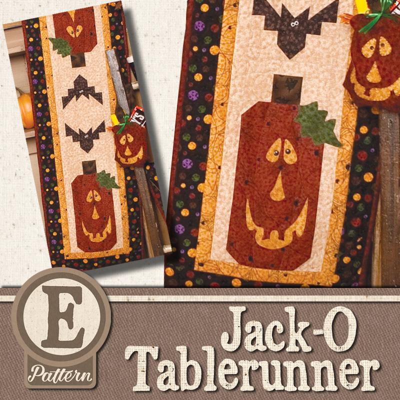 (TWB-EJackO)   E-pattern Jack-O Tablerunner