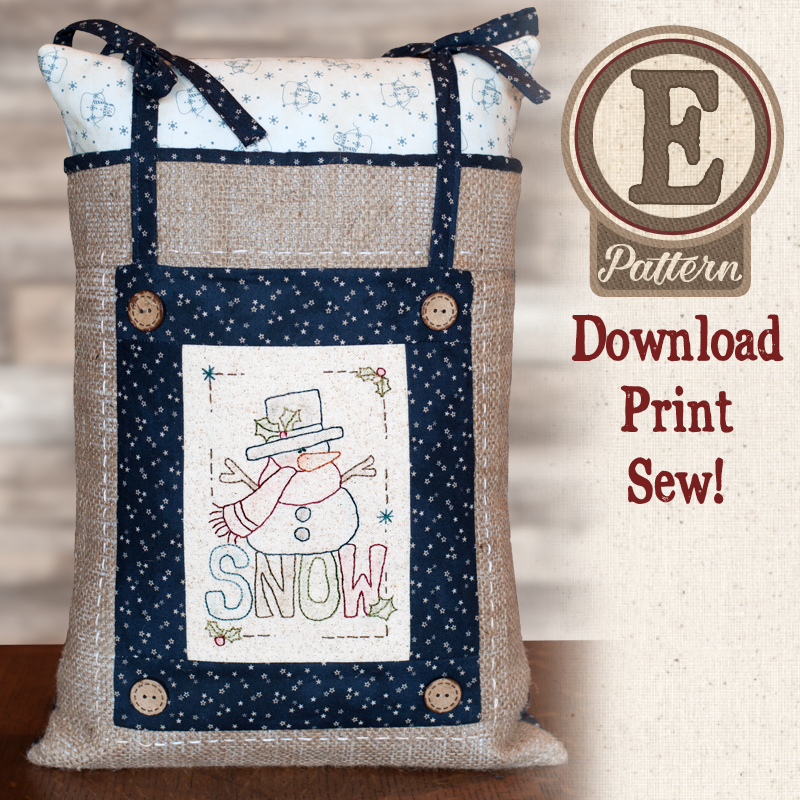 (TWB-EF02)   E-pattern F02 Little Stitcheries Snow Adorable Pillow