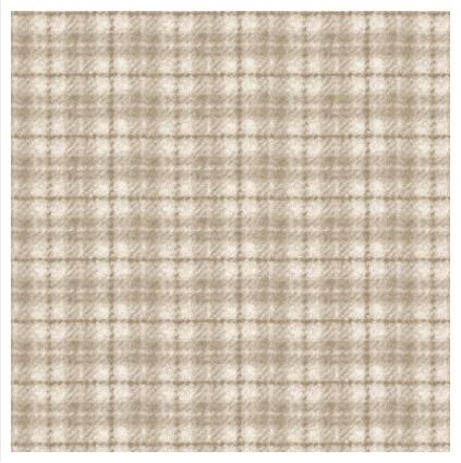 (F18502-E)   1 Yard Cut of Plaid Light Tan Flannel