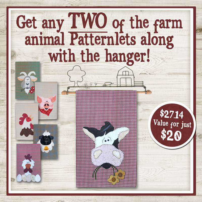 (Bundle-FarmYard)  Farm Hanger and Patternlet Duo