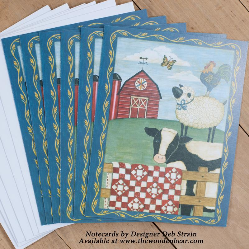 (DS-SN103)   Farmyard Friends & Quilt Notecards