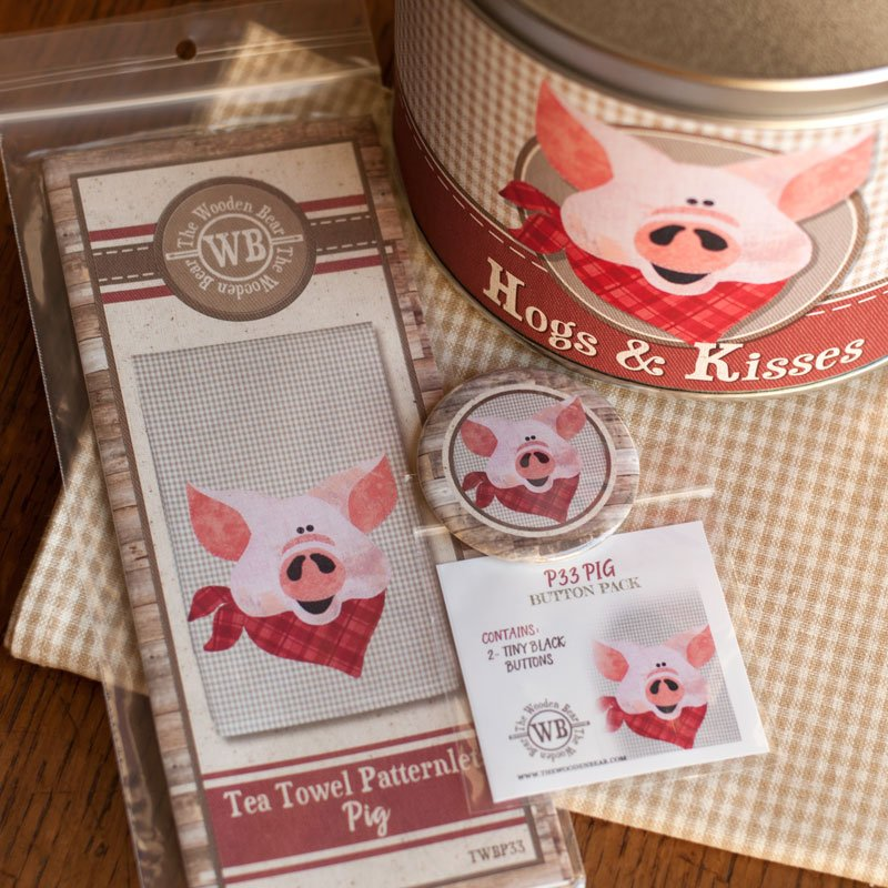 (BUNDLE-HogAppliqueBucket)   Applique Hogs and Kisses Super Bucket Bundle