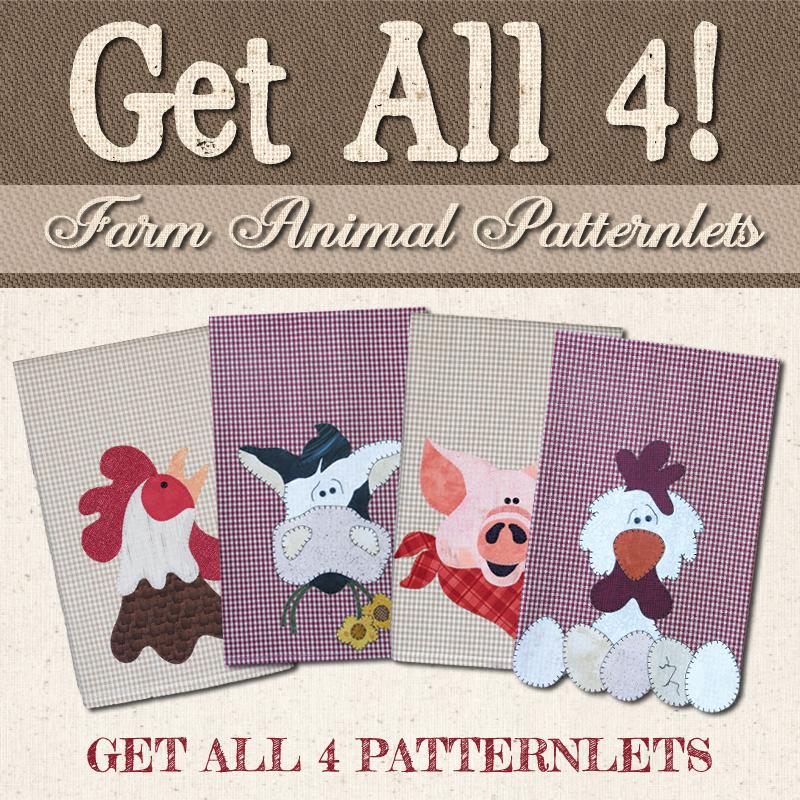 (BUNDLE-Farm4)   Farm Animal Patternlets Group- All 4 Patternlets
