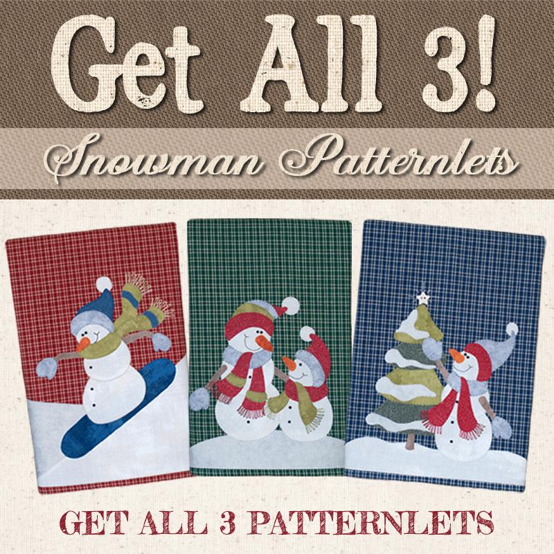 (BUNDLE-Snow)   Snowman Patternlets Group