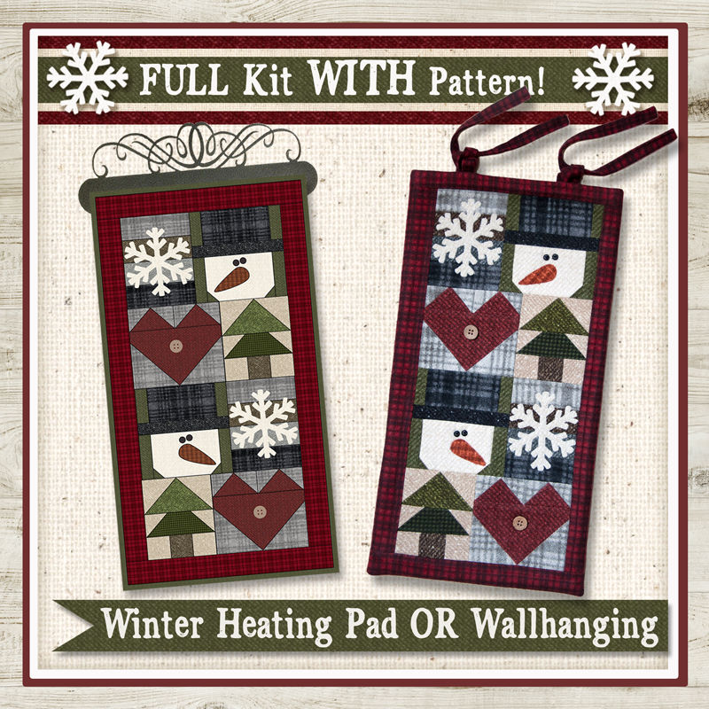 (KITH01Pattern)   Winter Heating Pad or Wallhanging Kit WITH Pattern