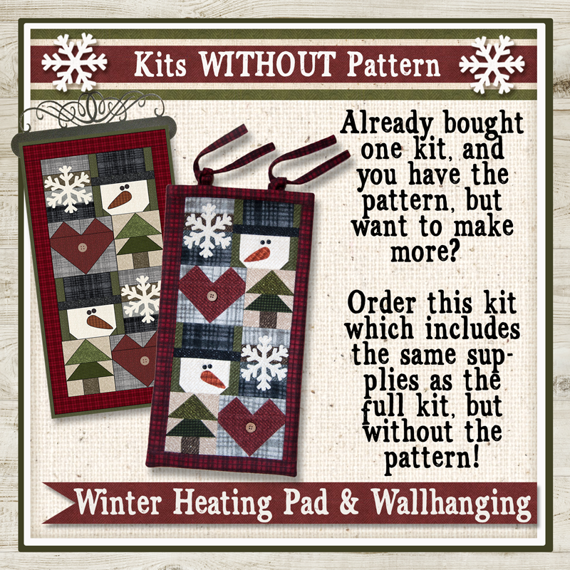 (KIT-H01NOPattern)   Winter Heating Pad or Wallhanging Kit NO Pattern