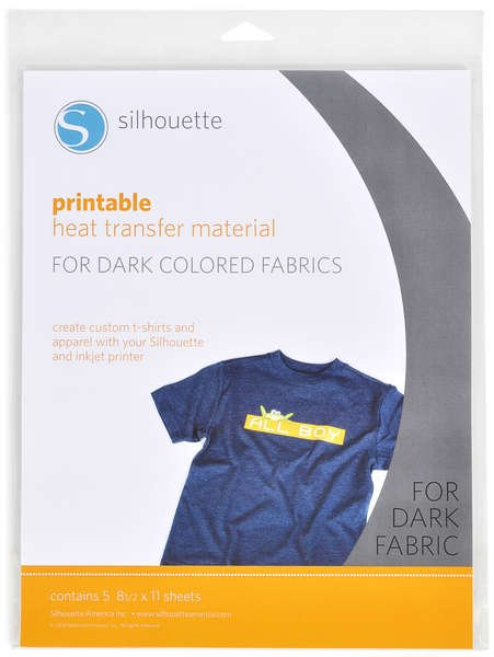 (CHK-HeatPrint-DK )   Printable Heat Transfer Material For Dark - 5 Sheets