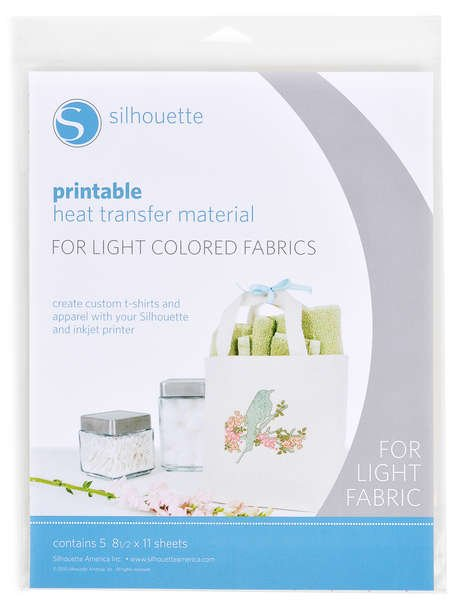 (CHK-HeatTransfer-LT )   Printable Heat Transfer Material For Light - 5 Sheets