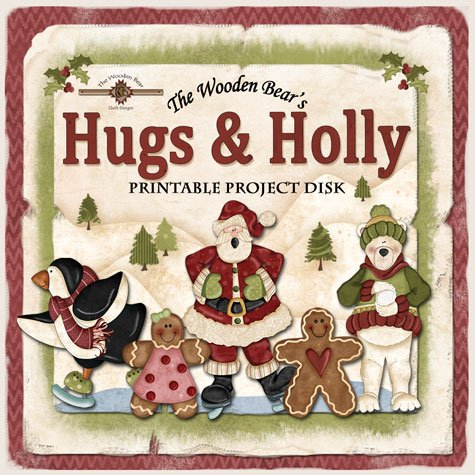 (DISK-TWBB04)   Hugs & Holly Printables Project Disk