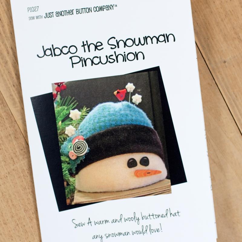 (JABC-P1027)   Jabco the Snowman Pincushion