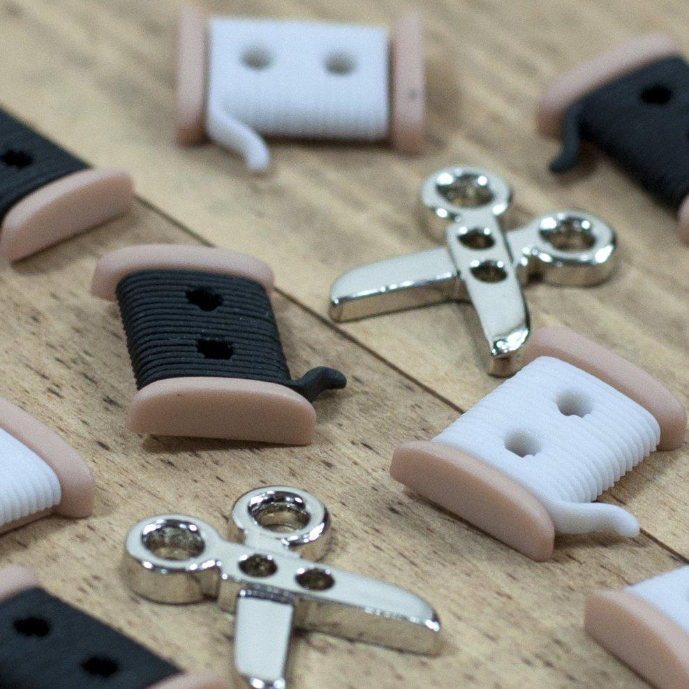 (JJB-6942)   Sew Cute Spools and Scissors