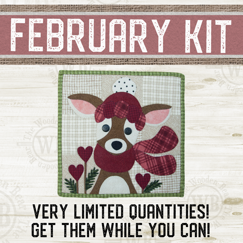 (KIT-L02FEB) KIT for February Little Quilts Squared