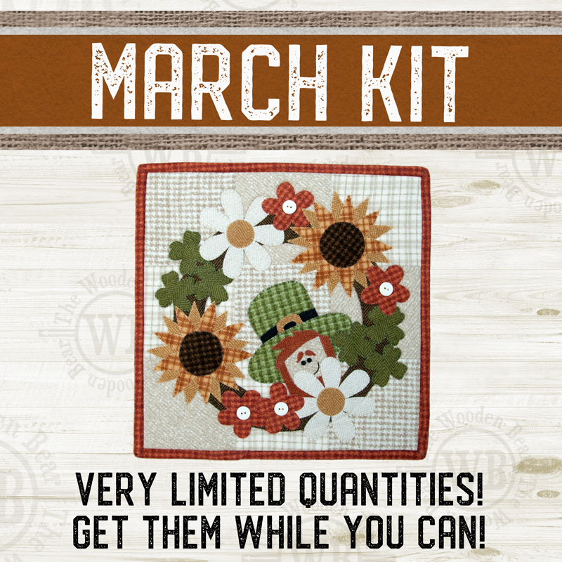(KIT-L03MAR) KIT for March Little Quilts Squared