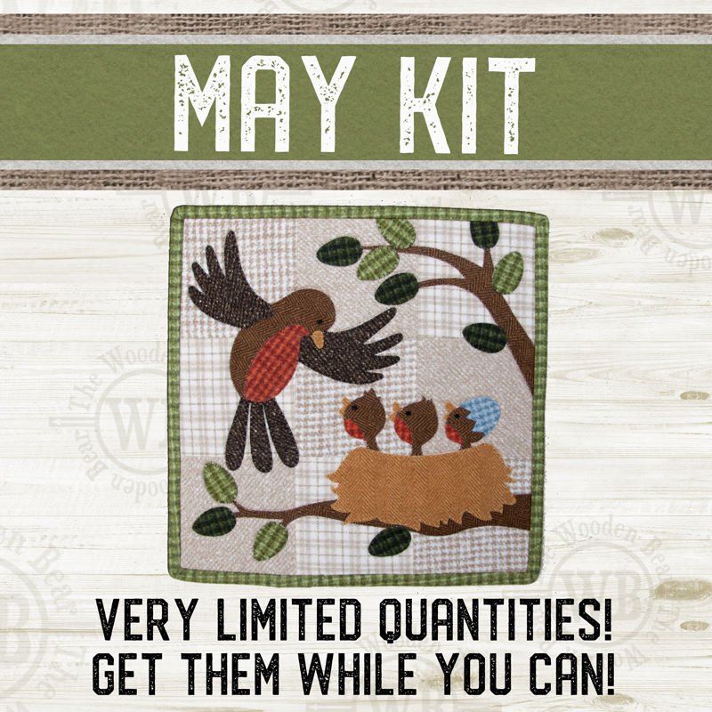 (KIT-L05MAY) KIT for May Little Quilts Squared