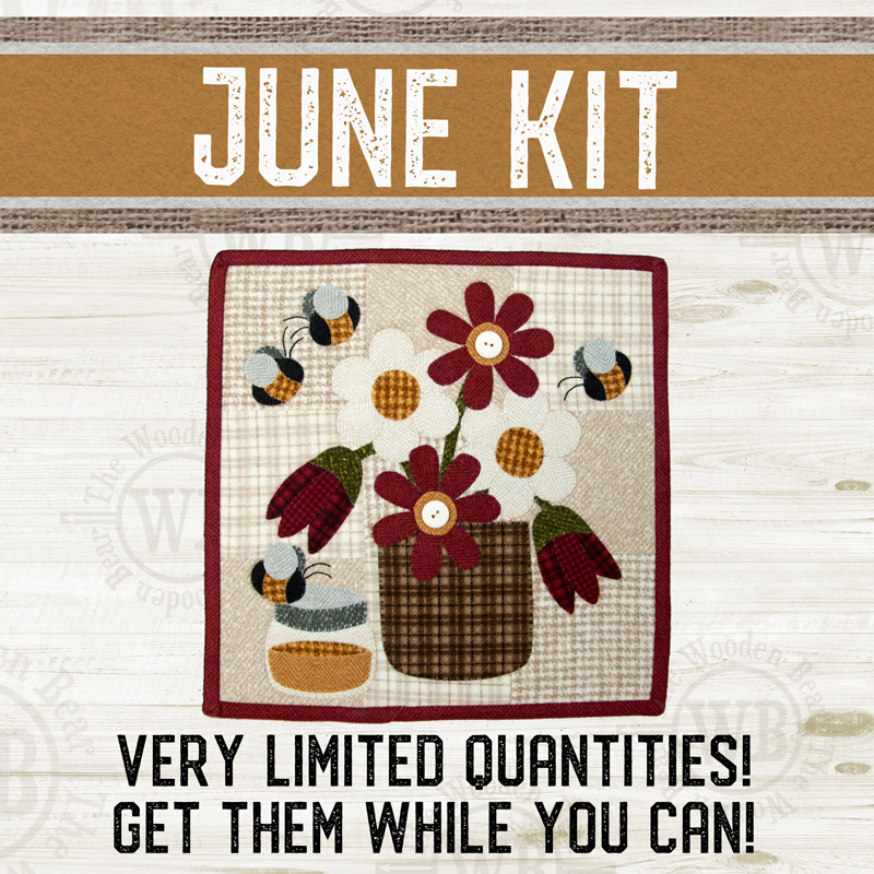 (KIT-L06JUNE) KIT for June Little Quilts Squared