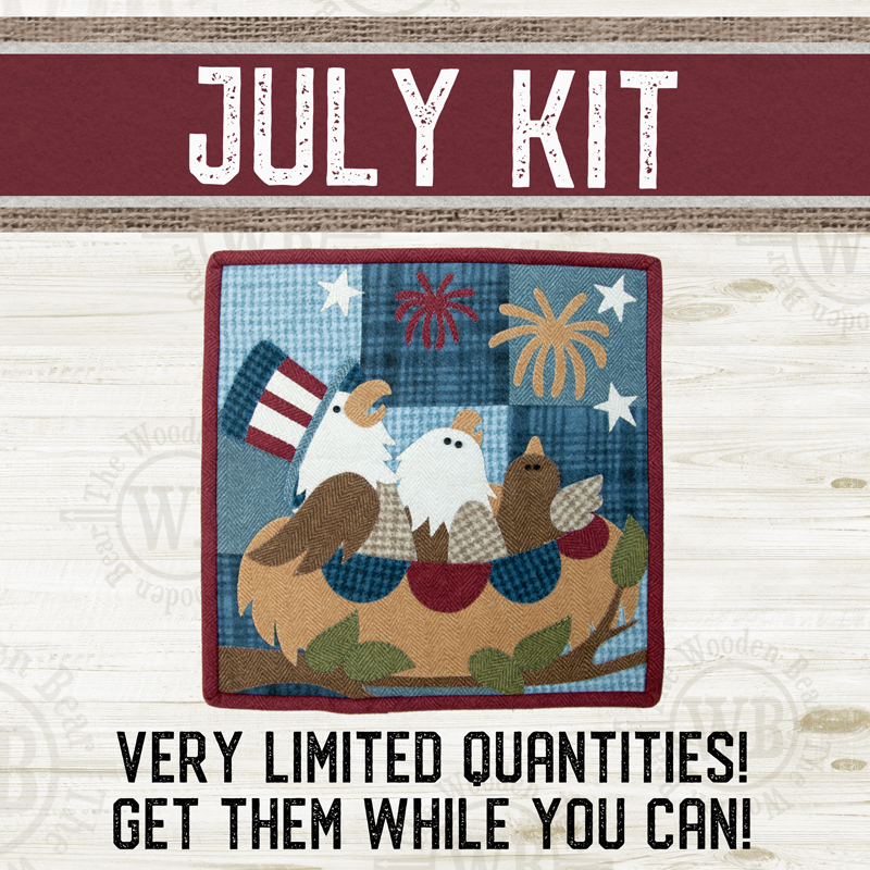 (KIT-L07JULY) KIT for July Little Quilts Squared