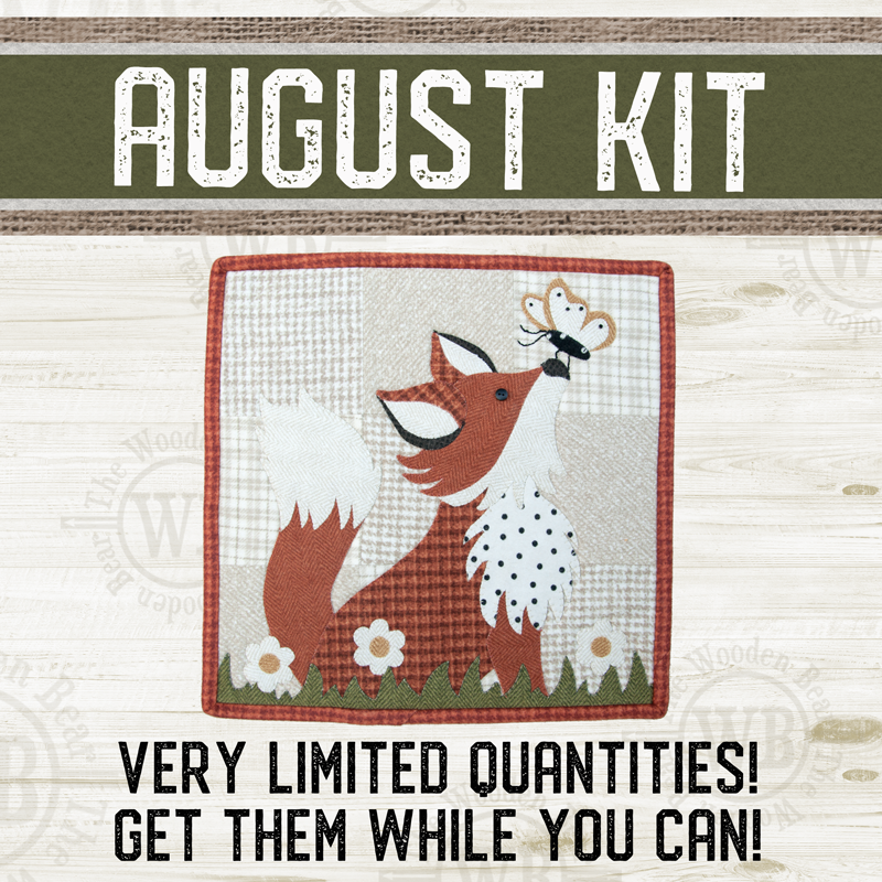 (KIT-L08AUG) KIT for August Little Quilts Squared