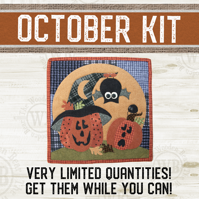 (KIT-L10OCT) KIT for October Little Quilts Squared