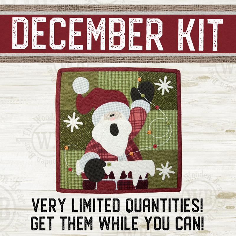 (KIT-L12DEC) KIT for December Little Quilts Squared