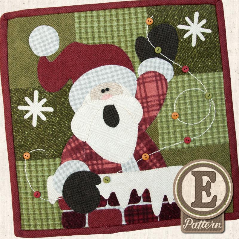 (TWB-EL12)   Epattern L12 December Rooftop Santa