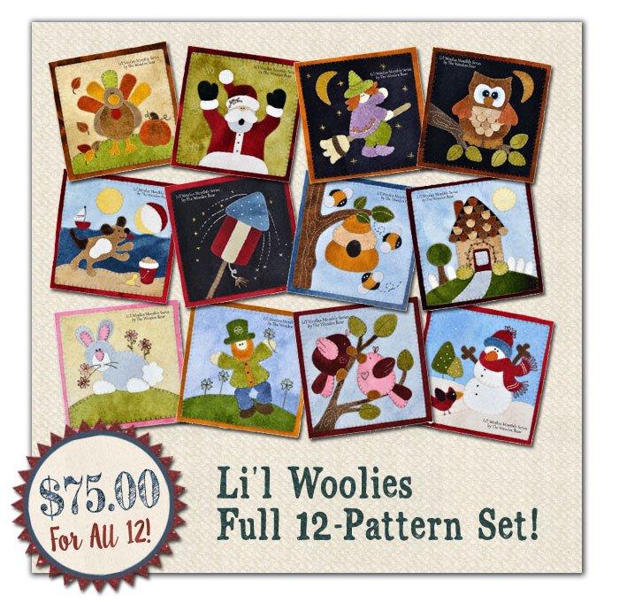 (WooliesSet)   Lil Woolies 12 Pattern SET