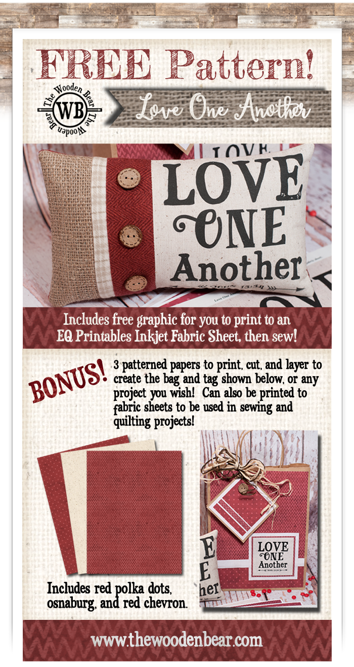 Love One Another Pillow and Patterned Papers